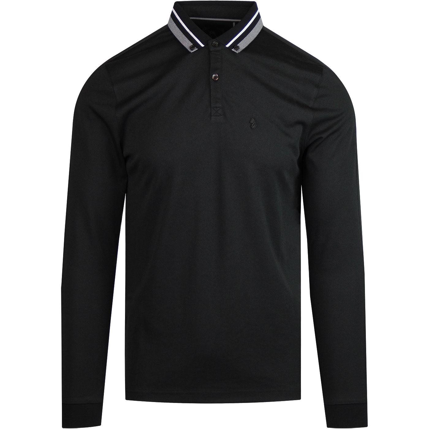 Twinkletoes LUKE 1977 Mod Long sleeve Polo (Black)