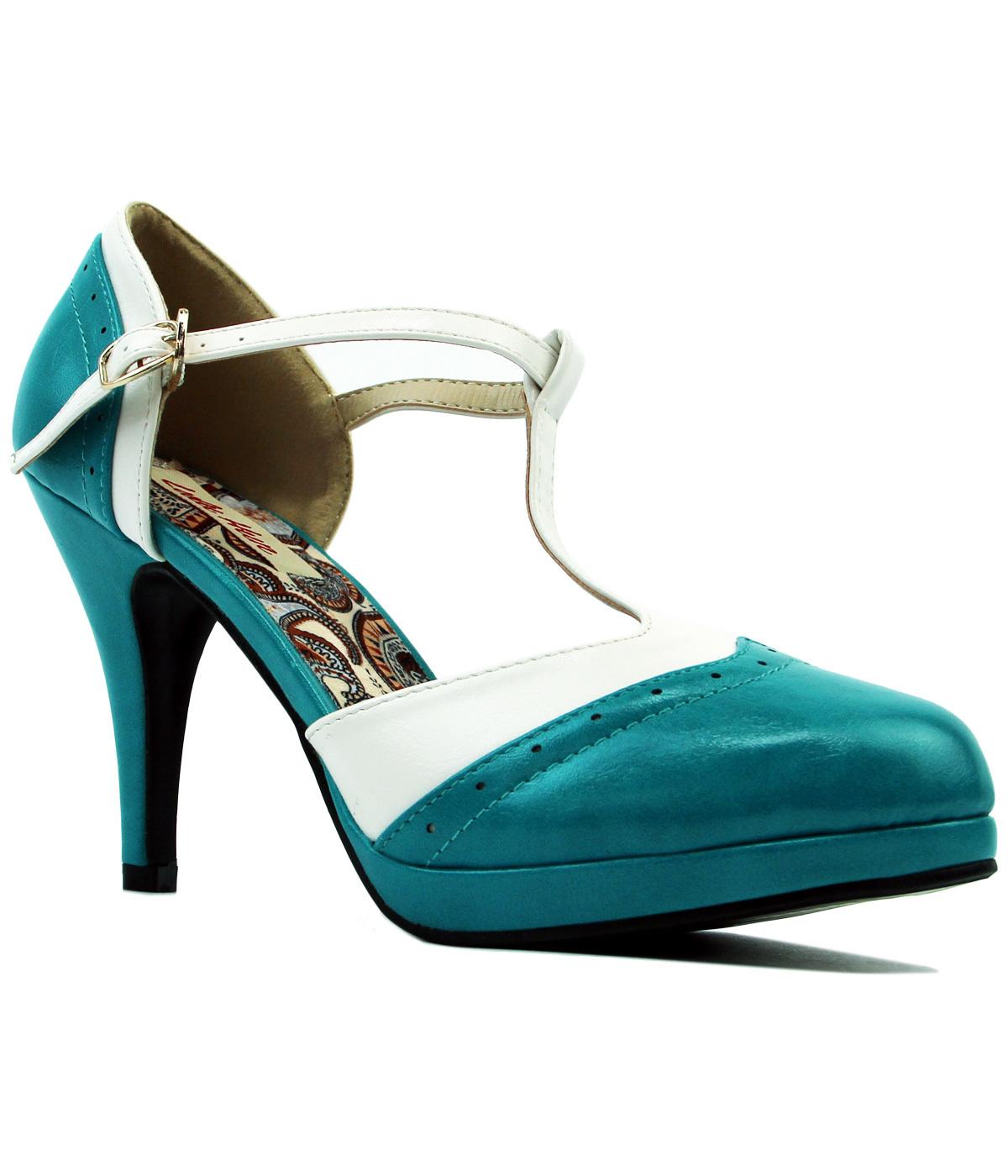 fd26134862ab LULU HUN Anne Retro 1960s Mod Strap High Heels in Mint