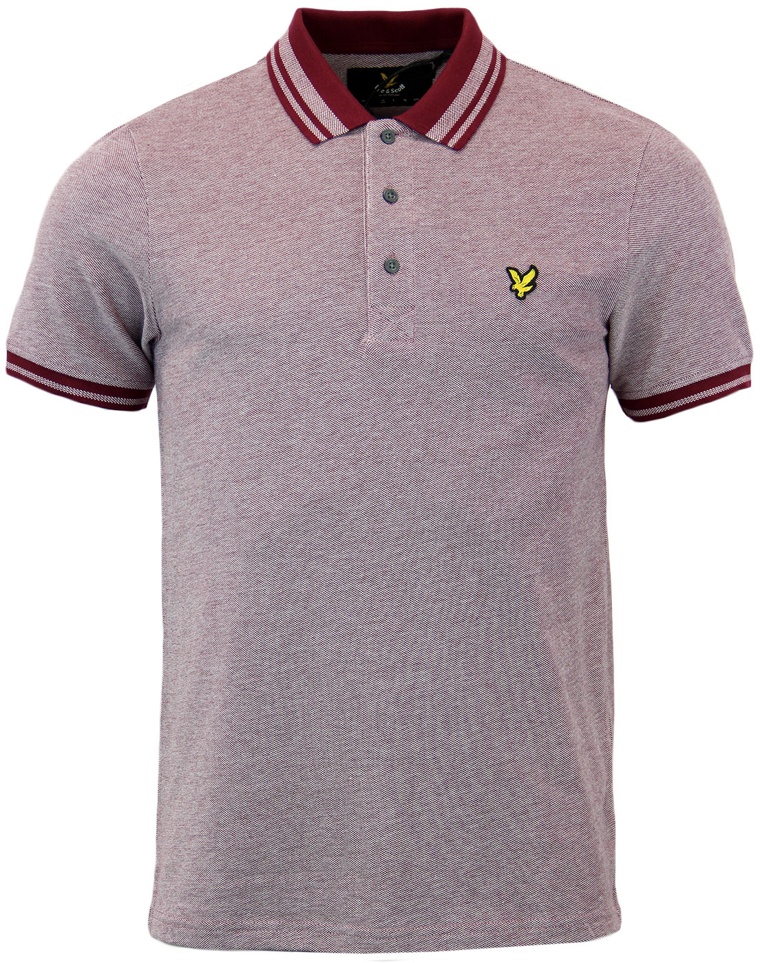 LYLE & SCOTT Retro Mod Tipped Oxford Pique Polo