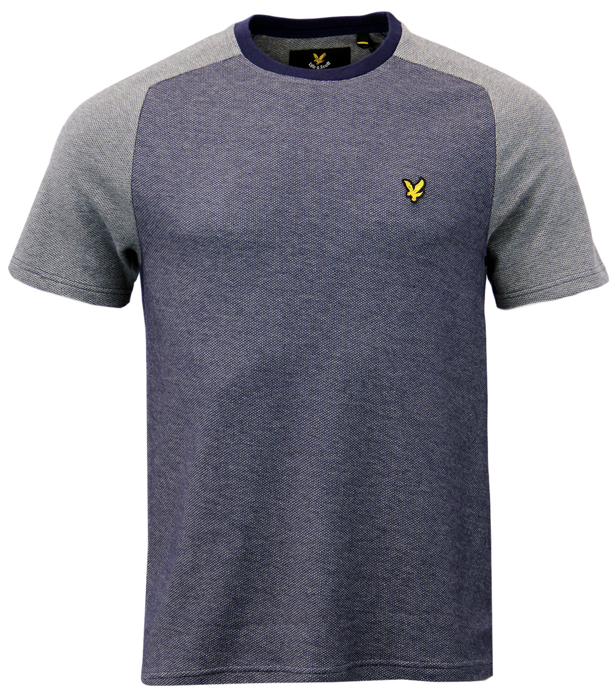 LYLE & SCOTT Retro Indie Two Tone Textured T-Shirt
