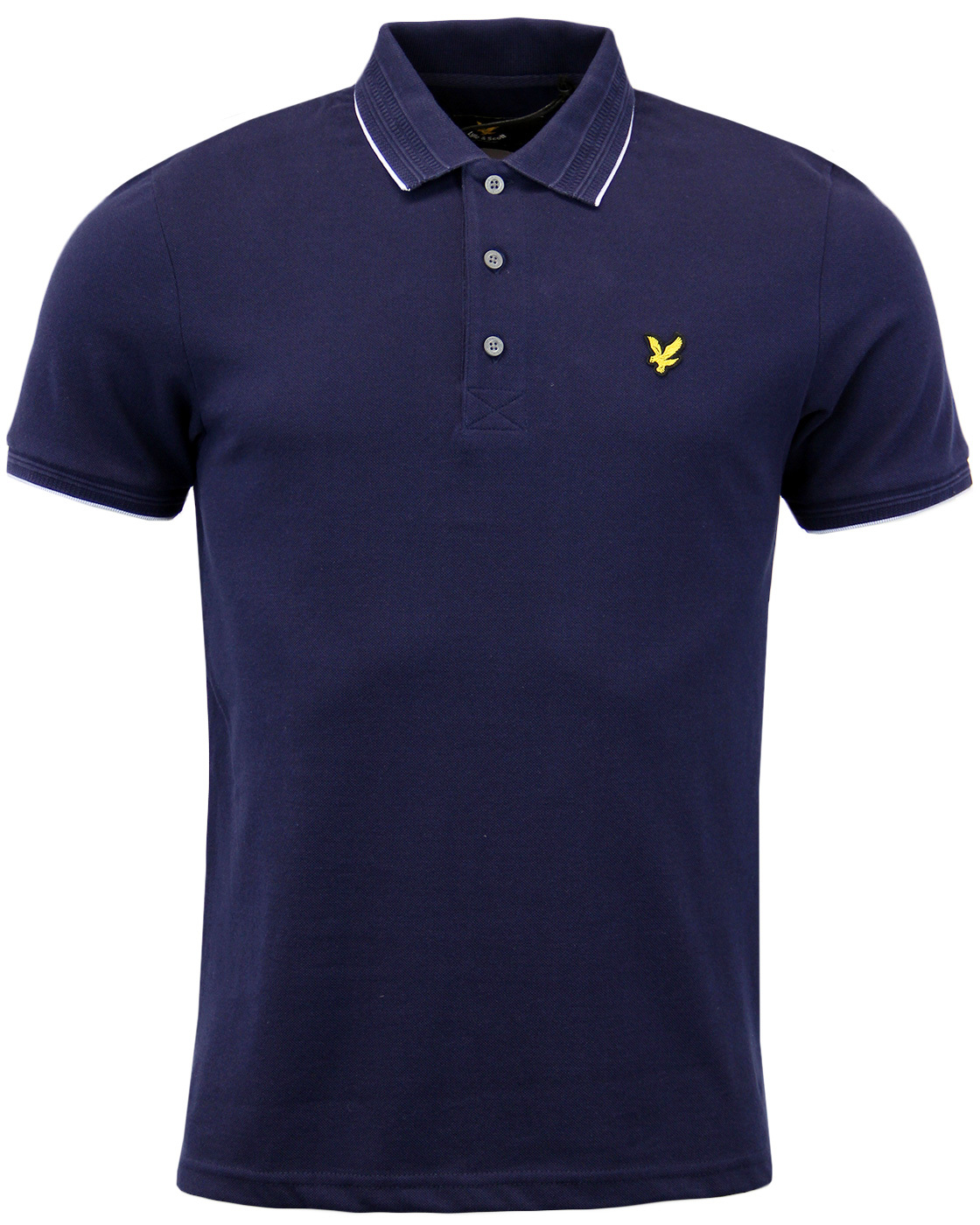 LYLE & SCOTT Retro 1960s Woven Collar Oxford Polo