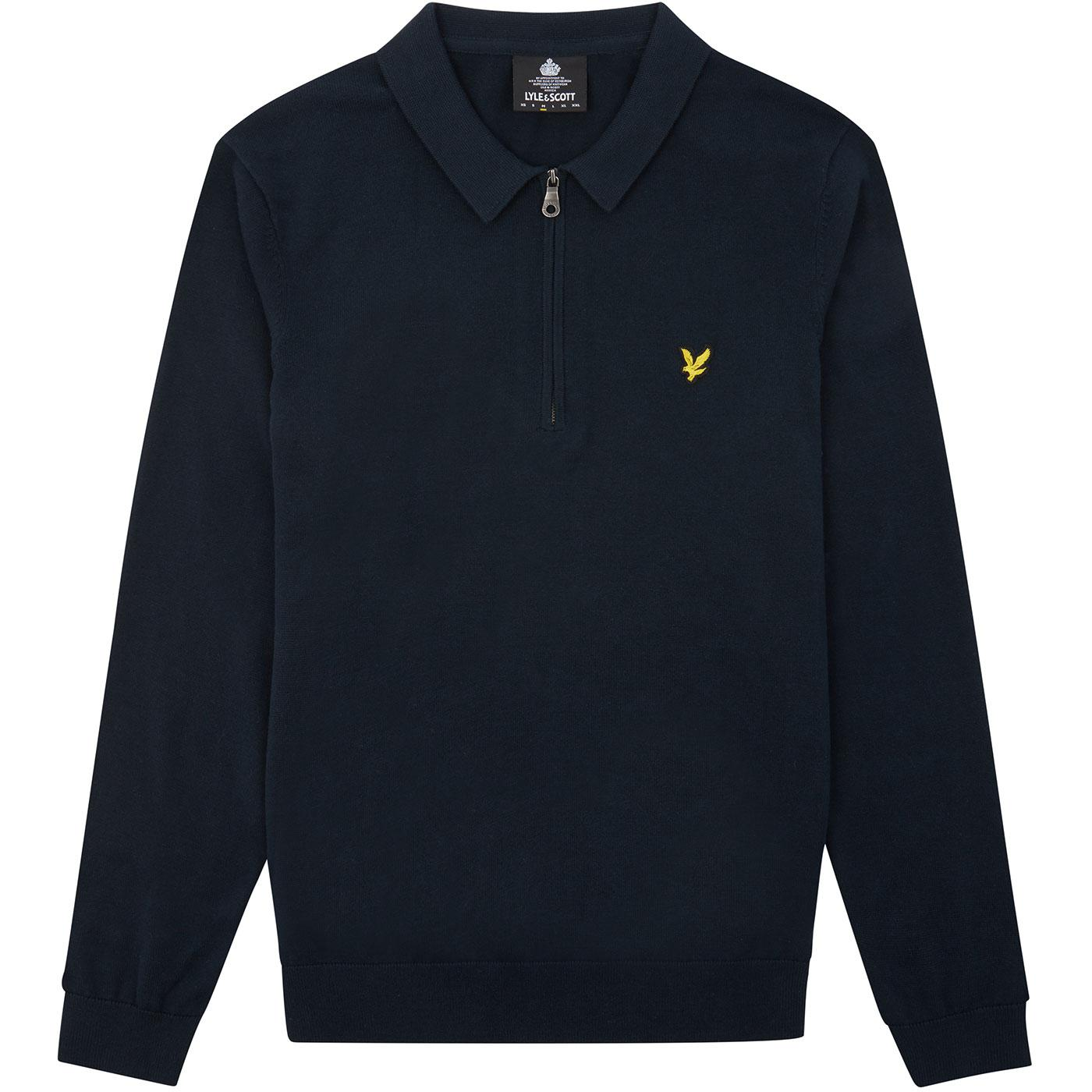 LYLE & Scott Retro Mod 1/4 Zip Sweatshirt Polo (N)
