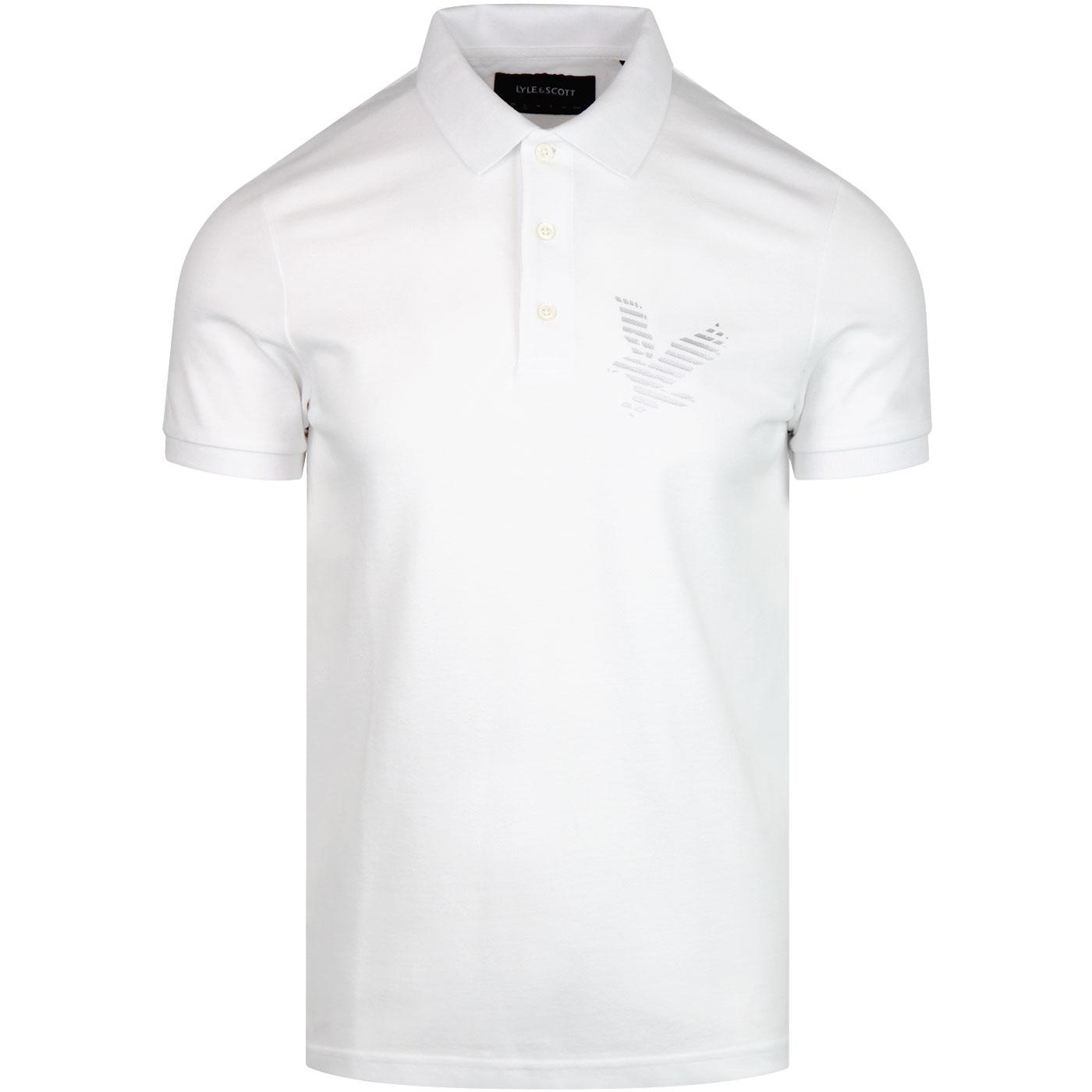 LYLE & SCOTT Casuals Retro Logo Polo Shirt WHITE