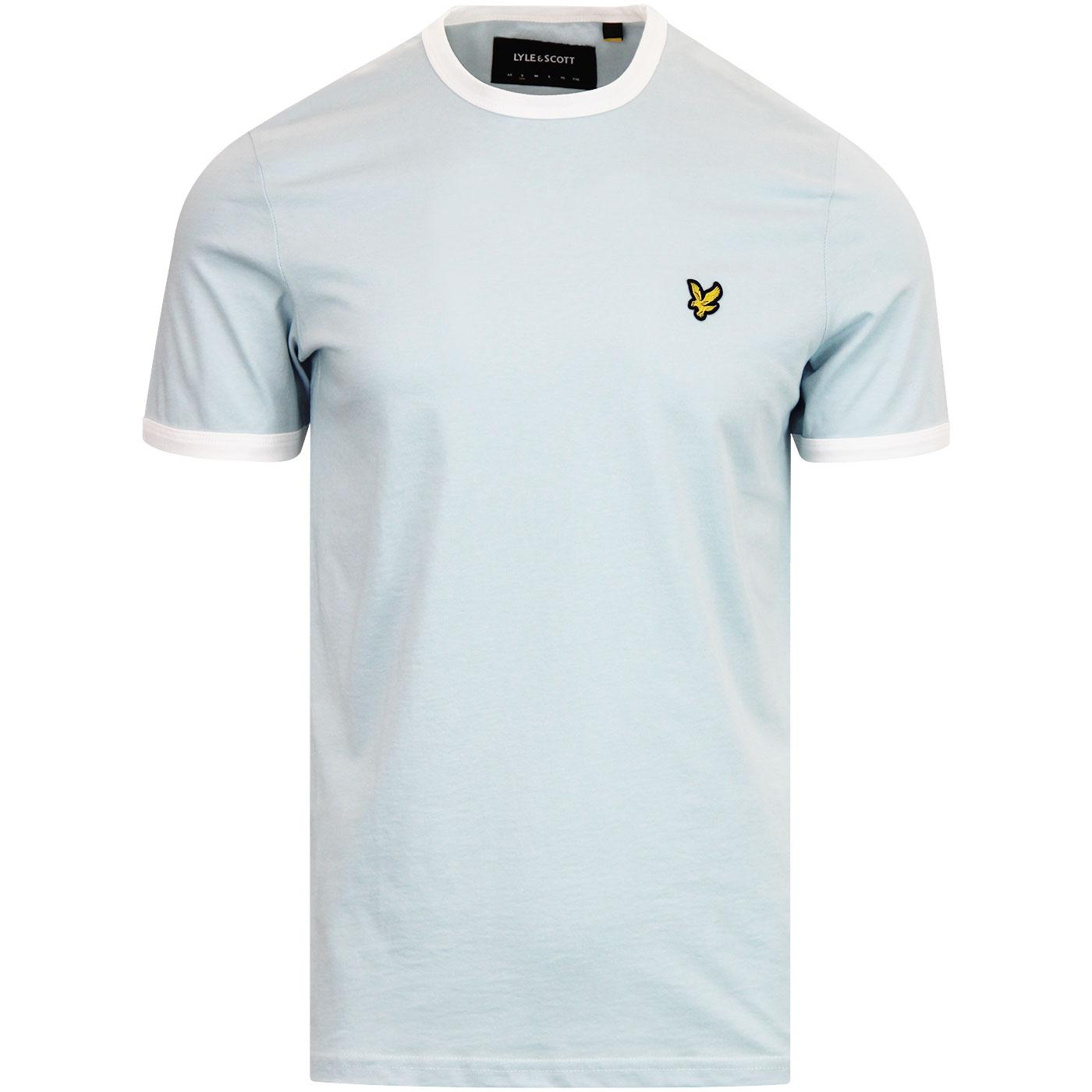 LYLE & SCOTT Men's Retro 70s Ringer Tee BLUE SHORE