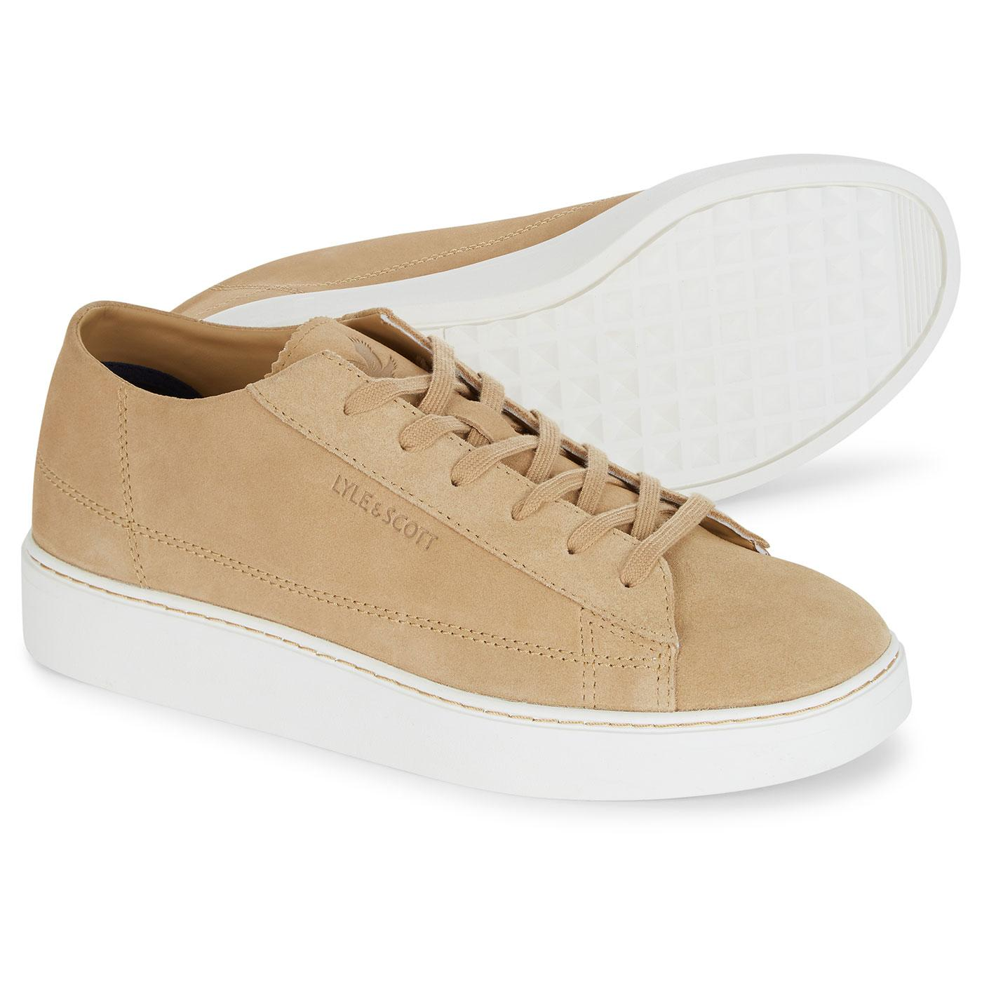 Shankly LYLE & SCOTT Retro Suede Trainers TAN