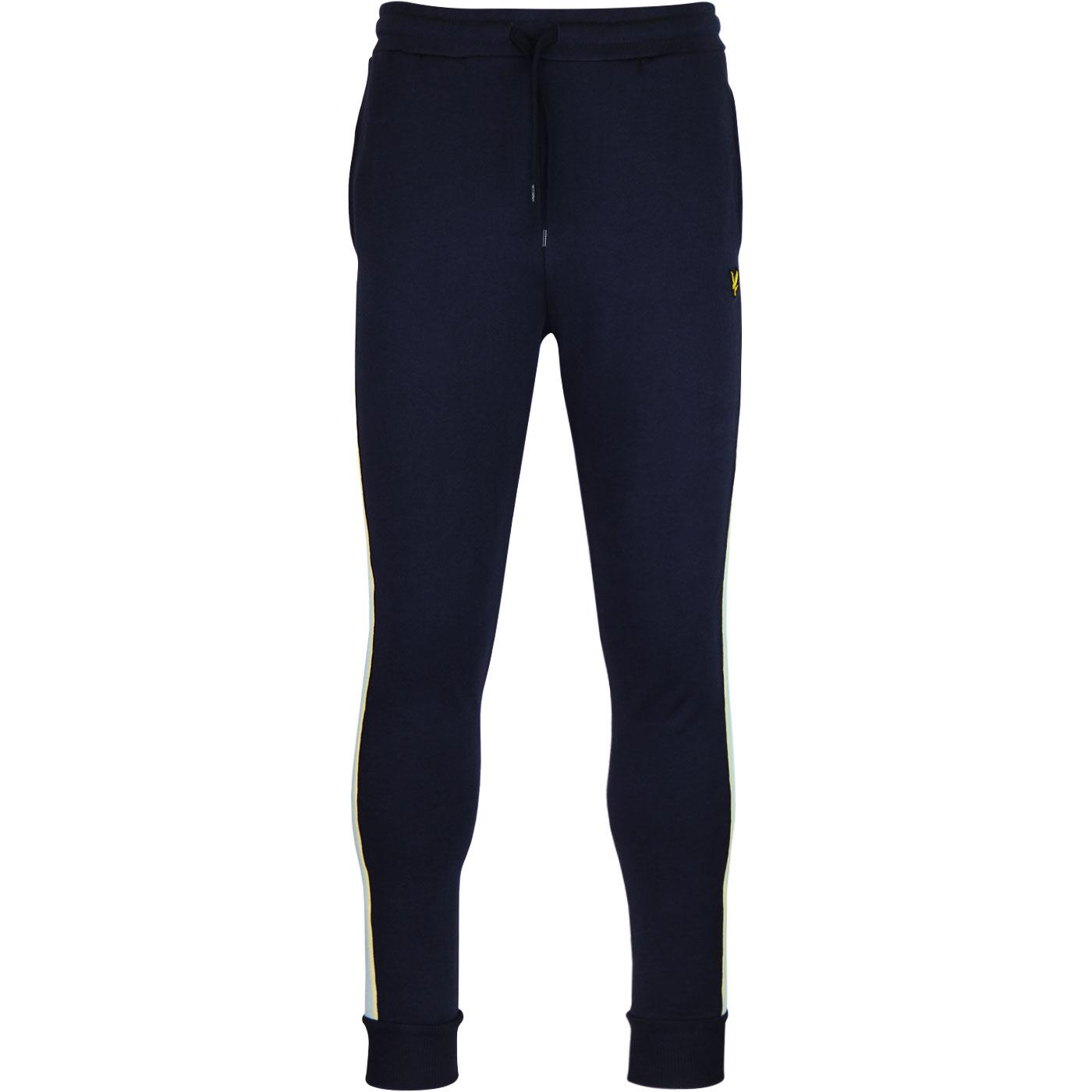 LYLE & SCOTT Retro 70s Side Stripe Sweatpants NAVY
