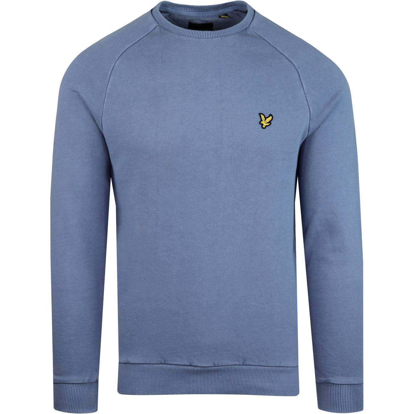 Snow Washed LYLE & SCOTT Retro Sweatshirt Blue