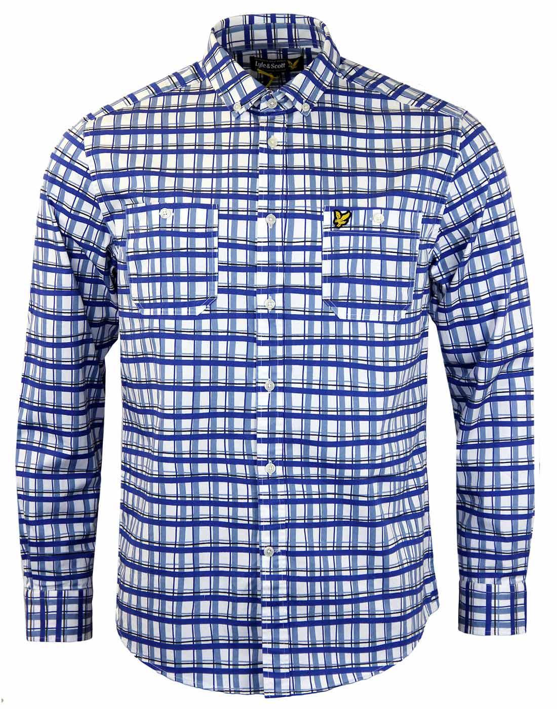 LYLE & SCOTT Hand Drawn Lines Check Retro Shirt