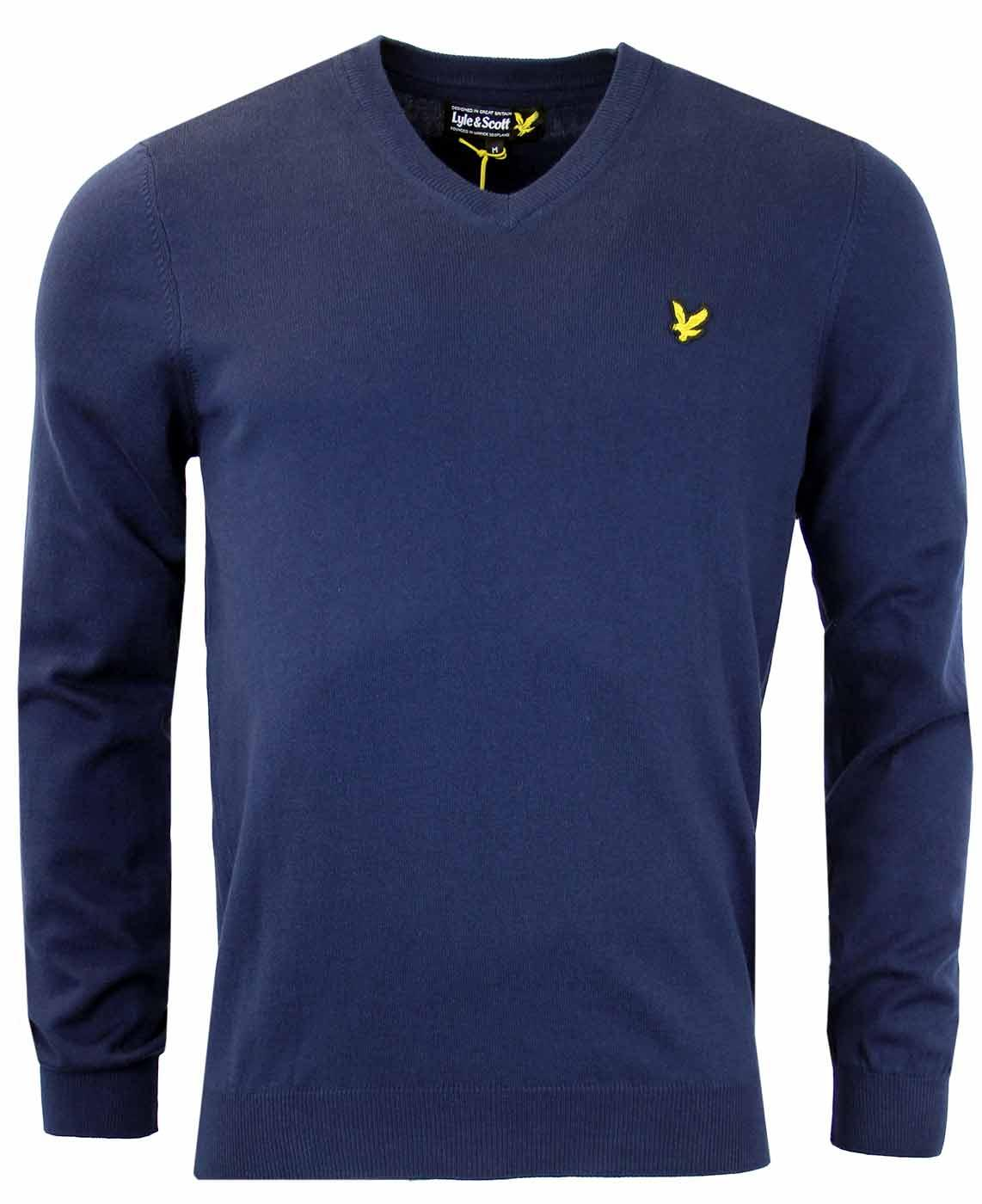 LYLE & SCOTT Golden Eagle V-Neck Cotton Jumper NN