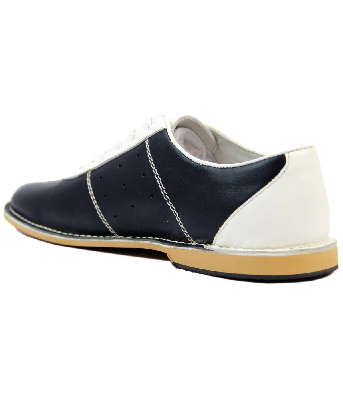62cfcf6d984a5 MADCAP ENGLAND All Up Retro 60s Mod Bowling Shoes Red/Blue