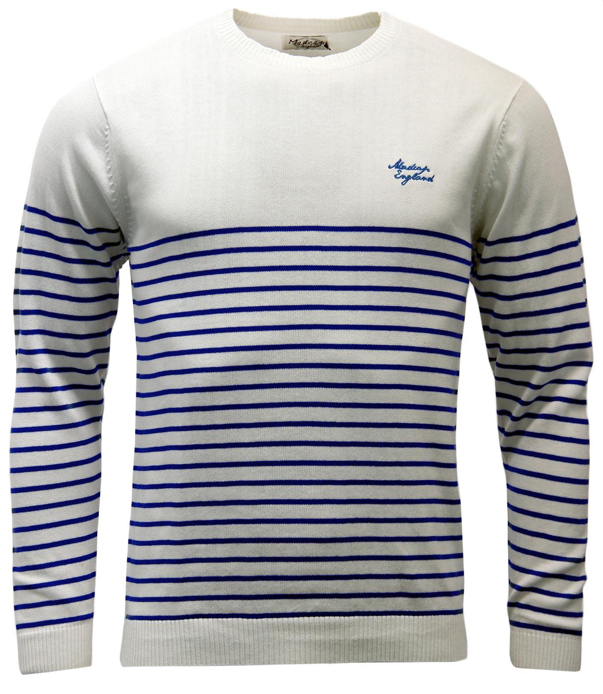 'Bobby' - Retro 60s Breton Stripe Mod Jumper (W)