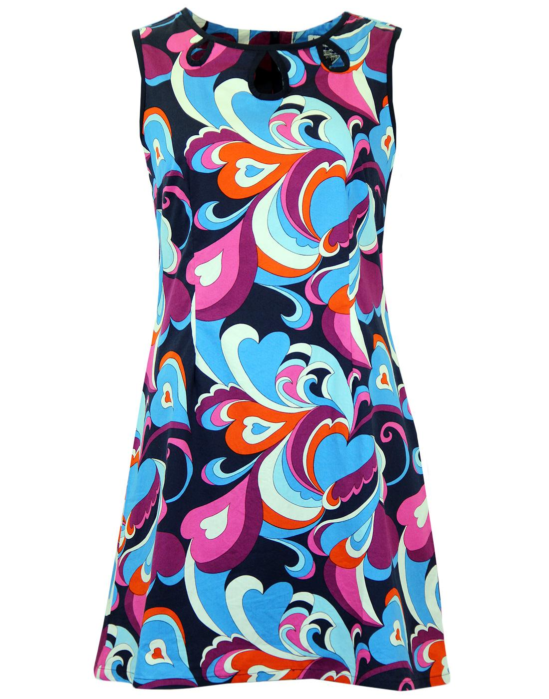 Lazy Daisy Paisley MADCAP ENGLAND Retro Mod Dress