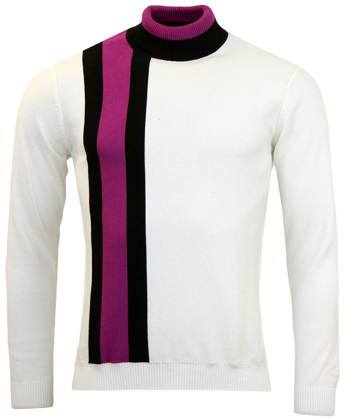 Lewis MADCAP ENGLAND Mod Roll Neck Racing Jumper