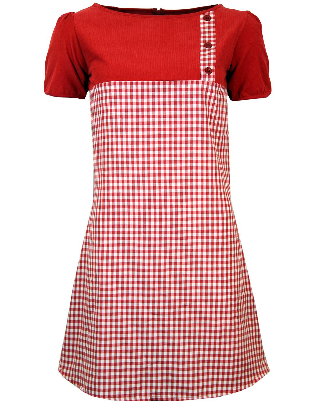 Lucy in the Sky MADCAP ENGLAND Mod Gingham Dress R