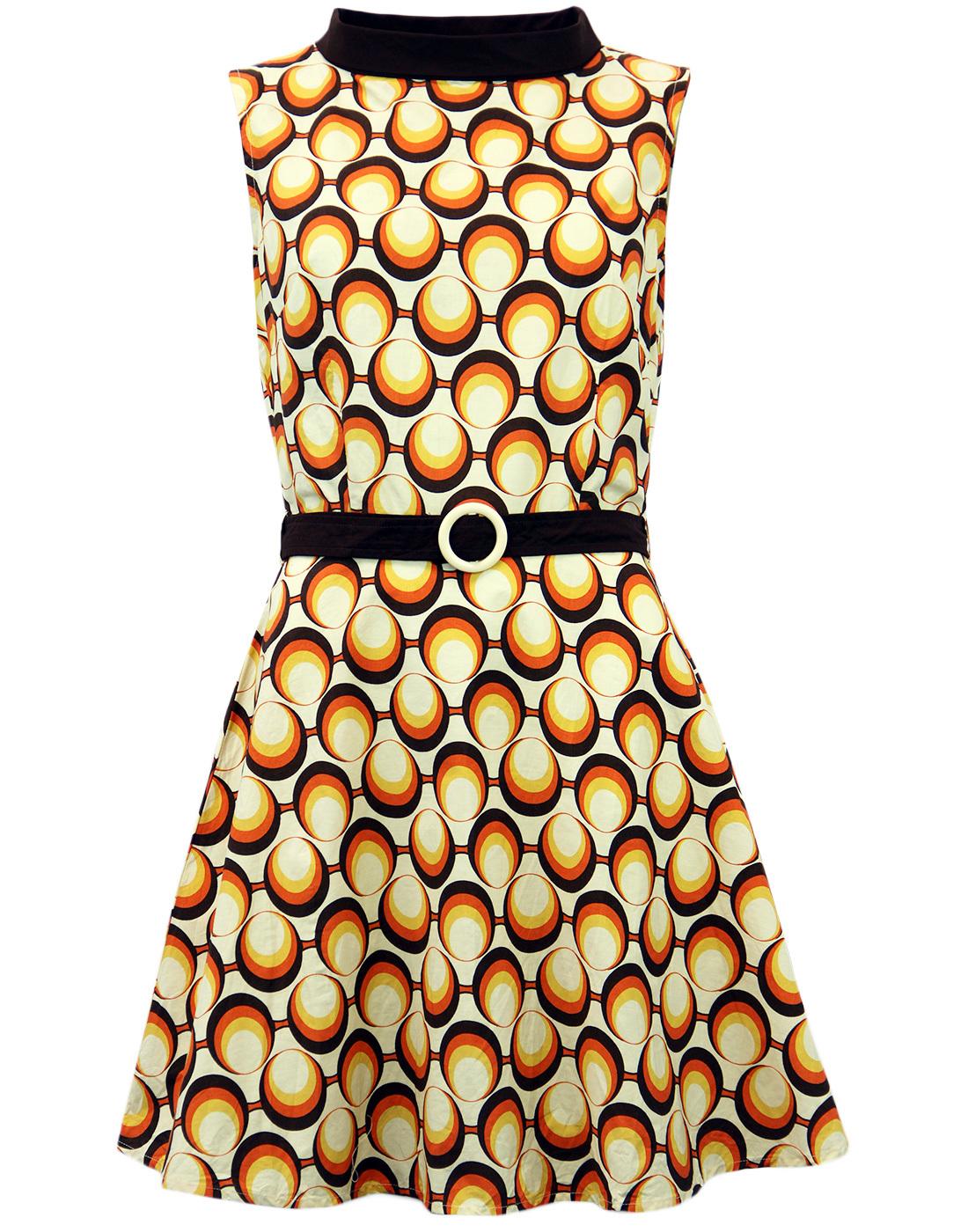 Minnie MADCAP ENGLAND Retro Mod 60s Geo Mini Dress
