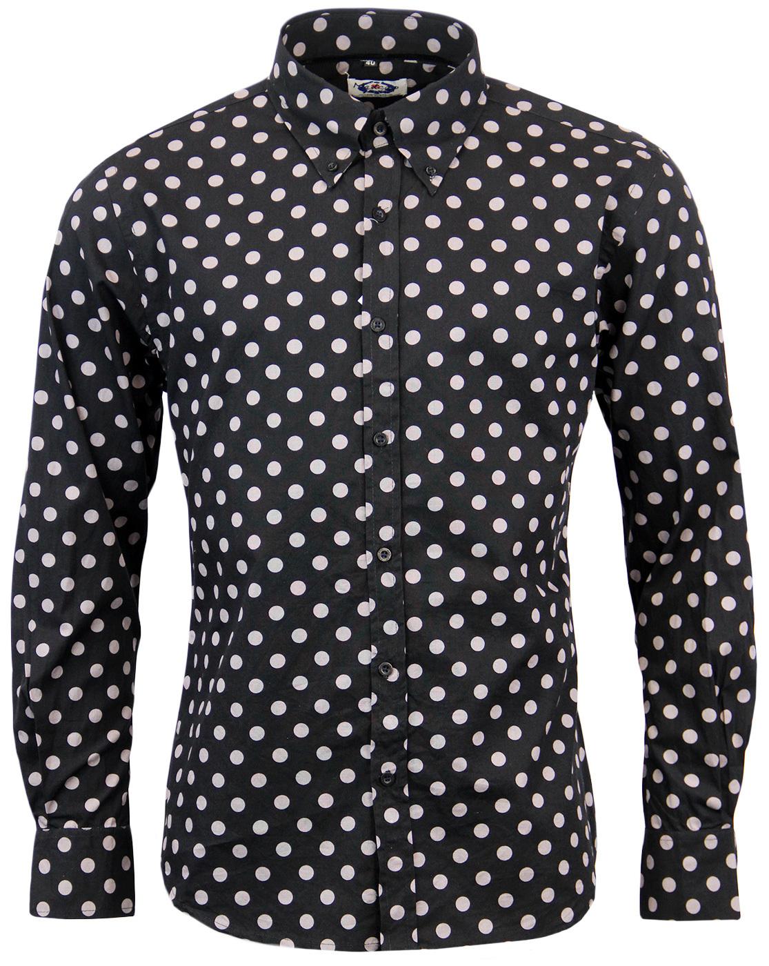 Penny Dot Lane Retro 60s Mod MADCAP Shirt (B/G)