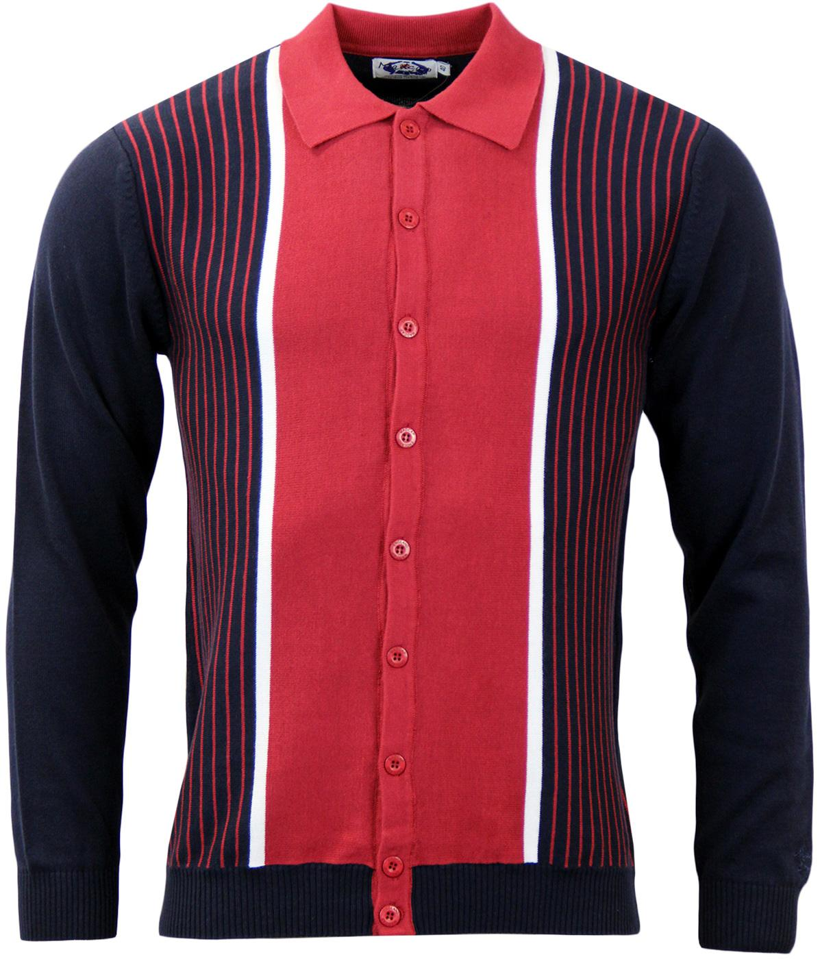Pinstripe Marriott MADCAP ENGLAND Polo Cardigan N