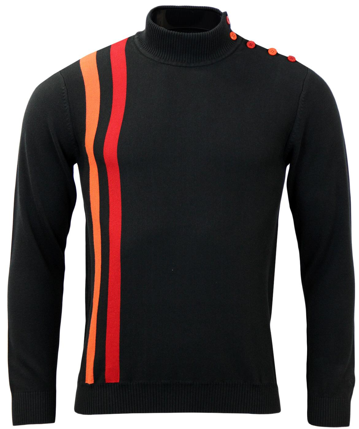 Racing Coleridge MADCAP Mens Retro Mod Turtle Neck
