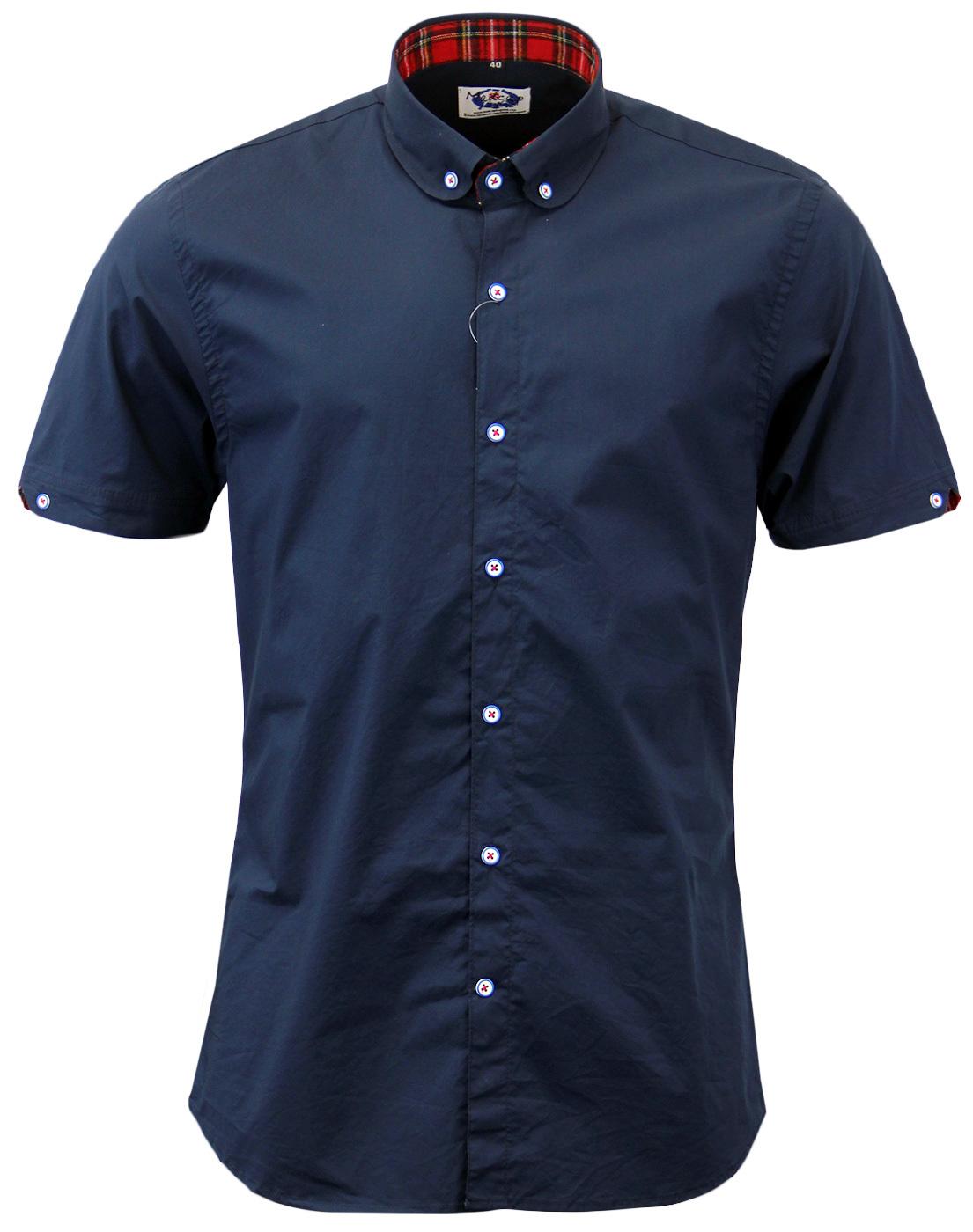 Roundhouse MADCAP ENGLAND Mod Penny Collar Shirt N