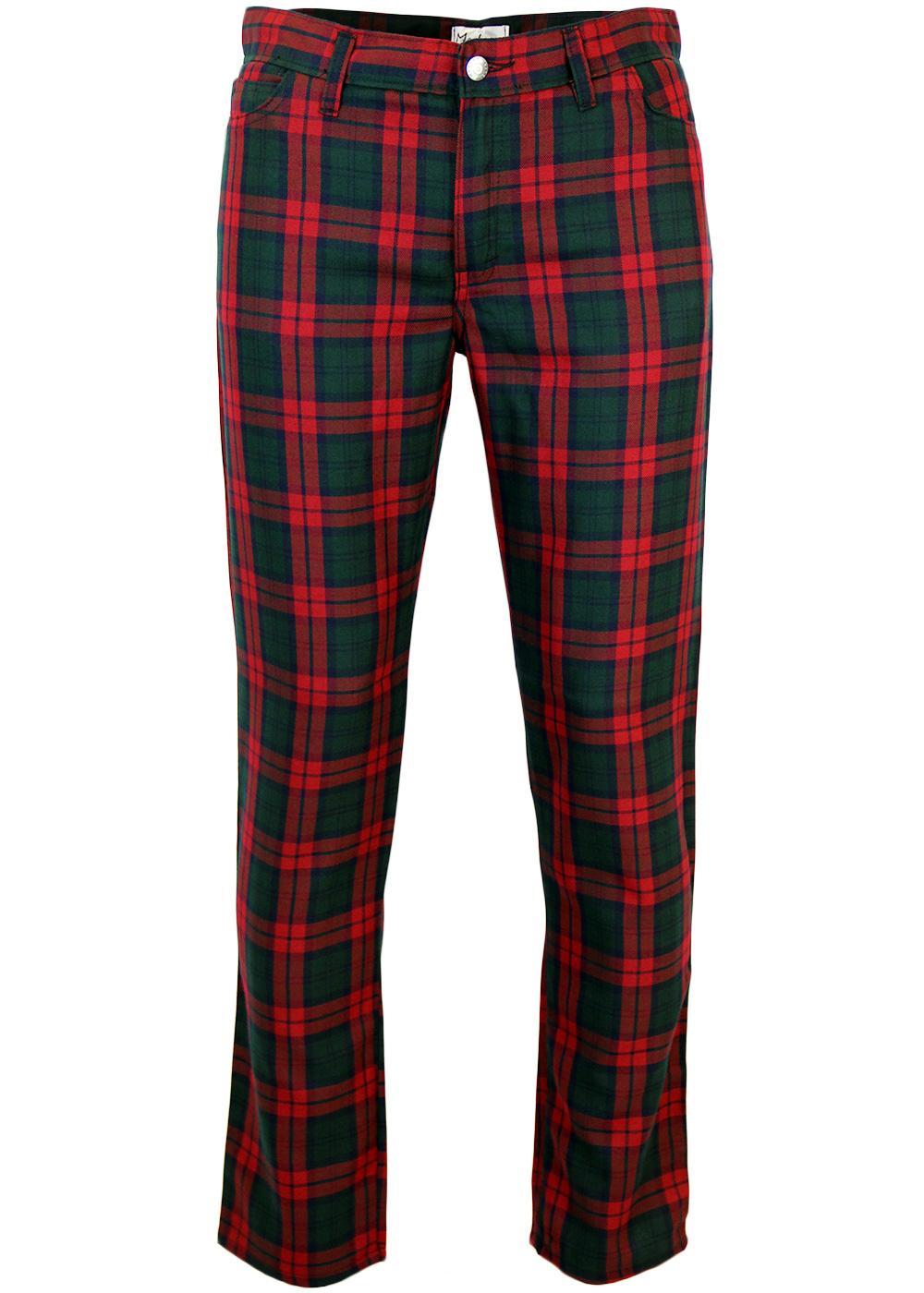 Tartan Trews MADCAP ENGLAND Retro Mod Trousers BR