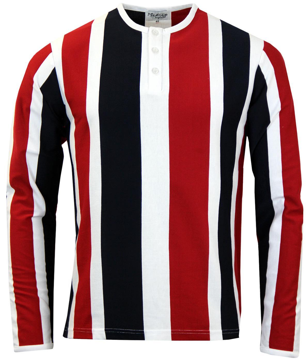Winston L/S MADCAP ENGLAND Mod Stripe Grandad Top