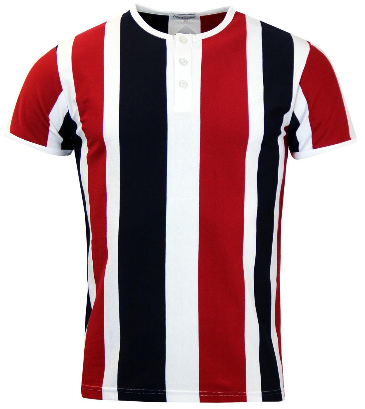 Winston S/S MADCAP ENGLAND Mod Stripe Grandad Top