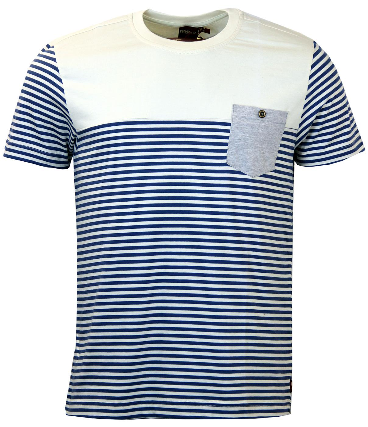 Reuben MERC Retro 60s Nautical Stripe Mod T-Shirt