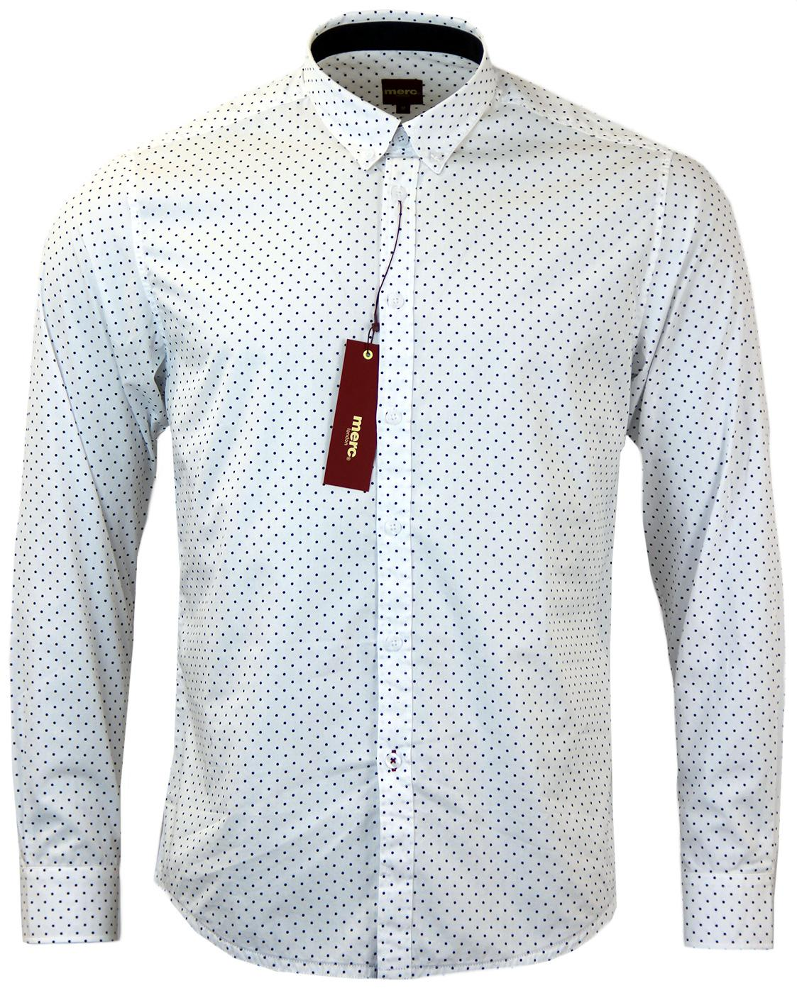 Siegel MERC Retro Sixties Polka Dot Mod Shirt W