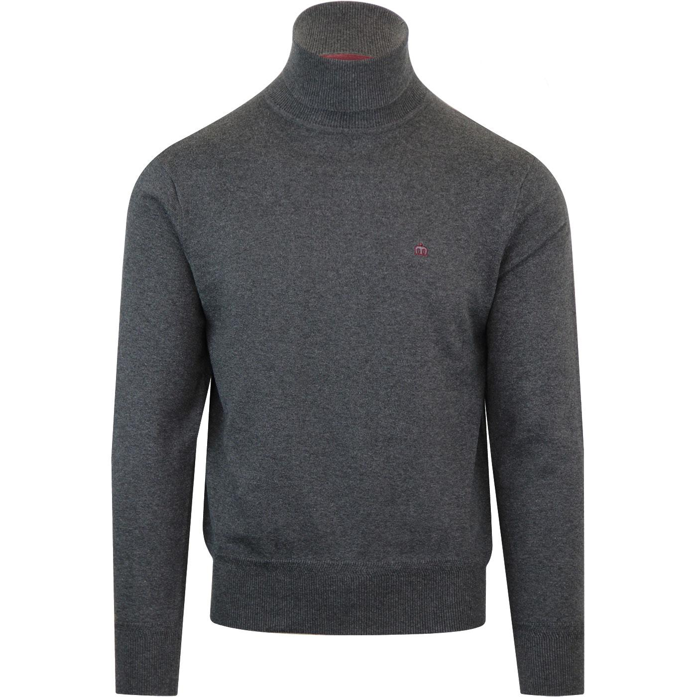Wapping MERC 1960s Mod Roll Neck Jumper (Charcoal)