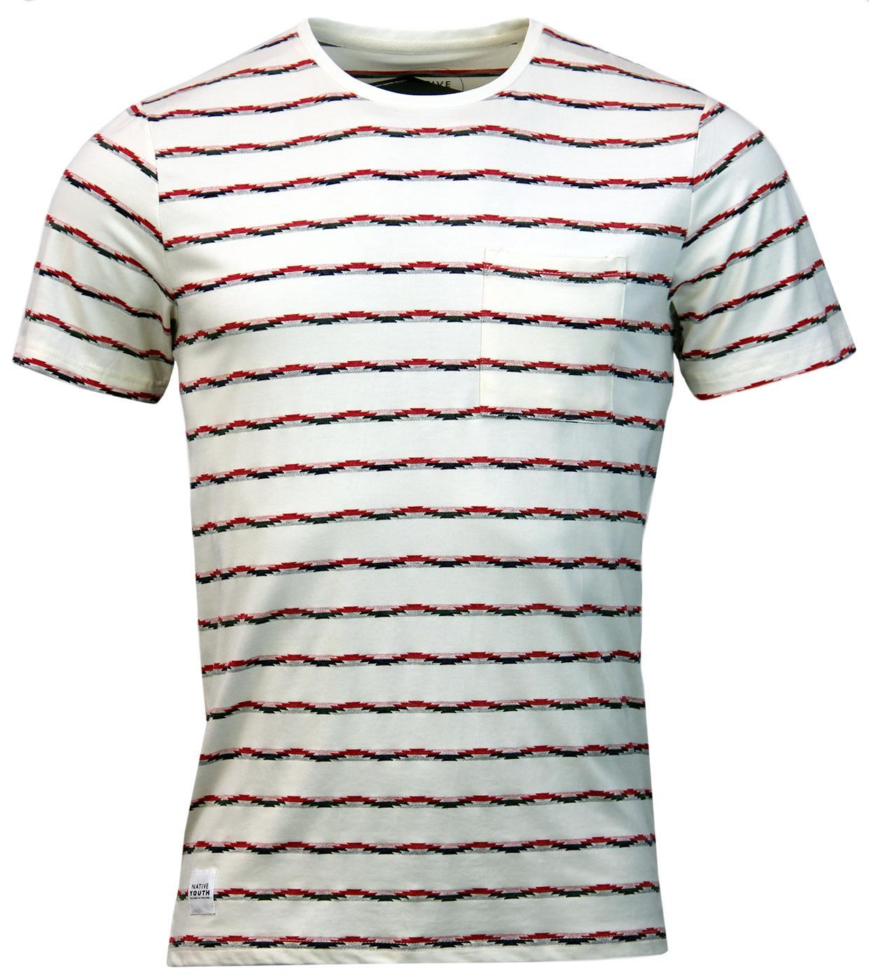 NATIVE YOUTH Retro Indie Jacquard Stripe T-Shirt