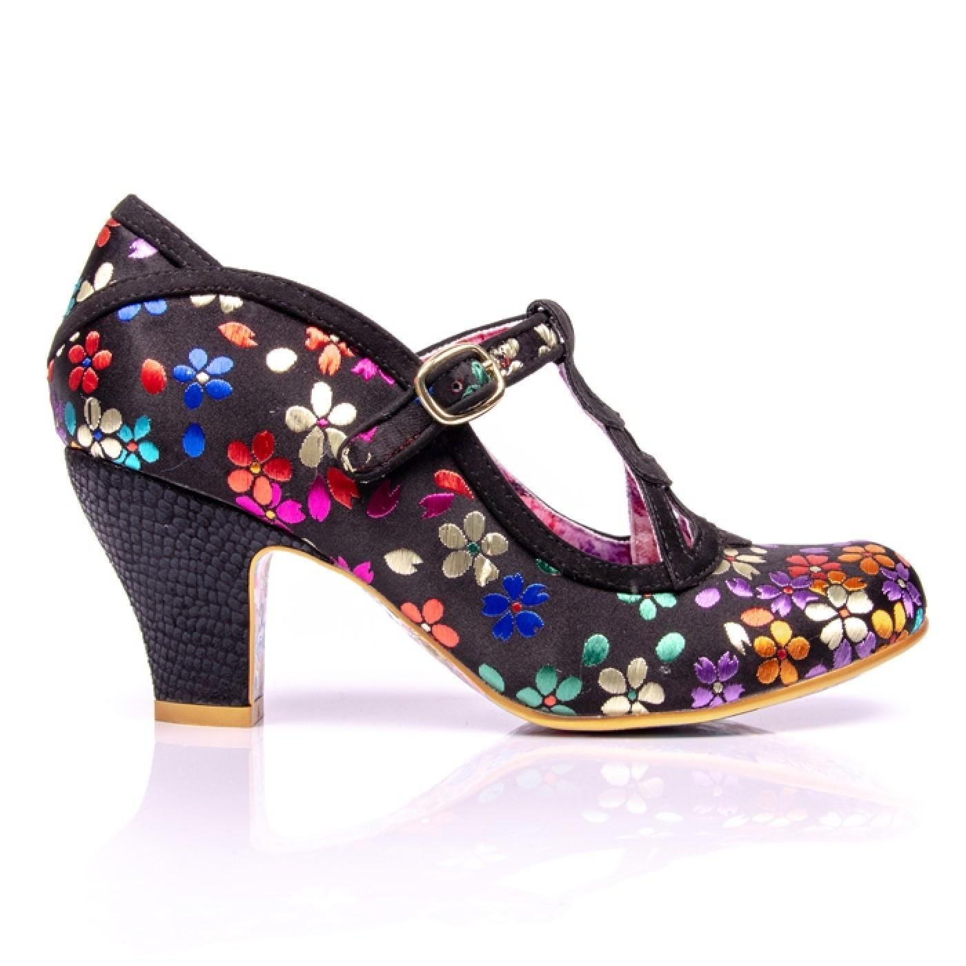 8b7f9e10989 IRREGULAR CHOICE Nicely Done Vintage Floral T-Bar Heels