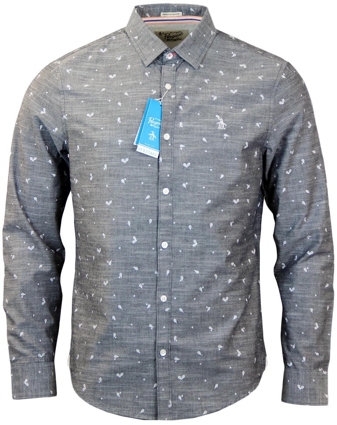 Deuce ORIGINAL PENGUIN Chambray Mini Racquet Shirt
