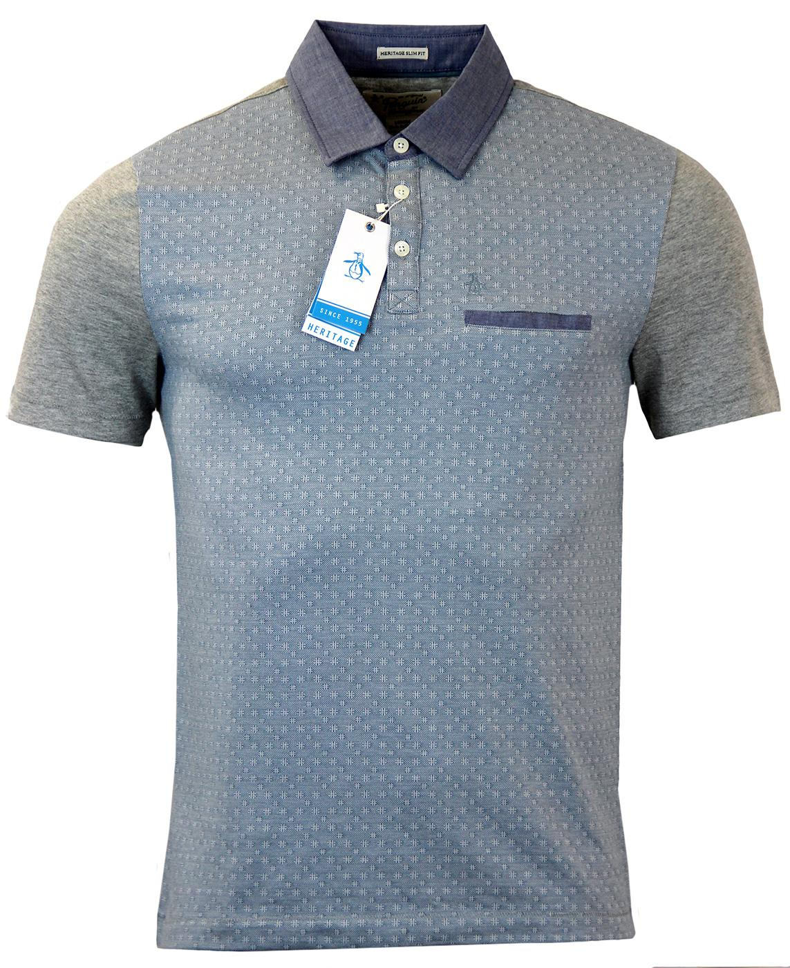 ORIGINAL PENGUIN Retro Mod Geo Print Polo