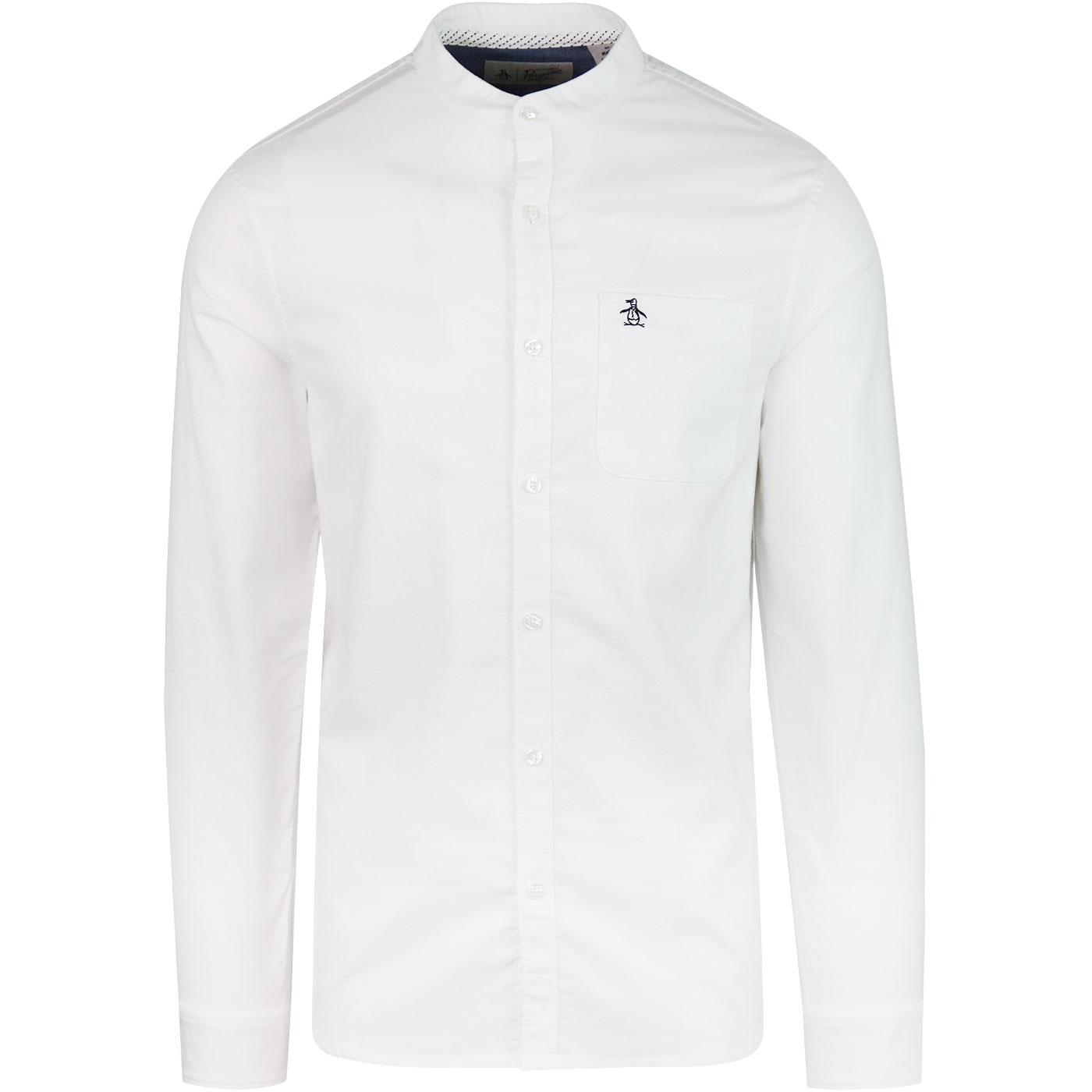 Collarless ORIGINAL PENGUIN Oxford Mod Shirt white