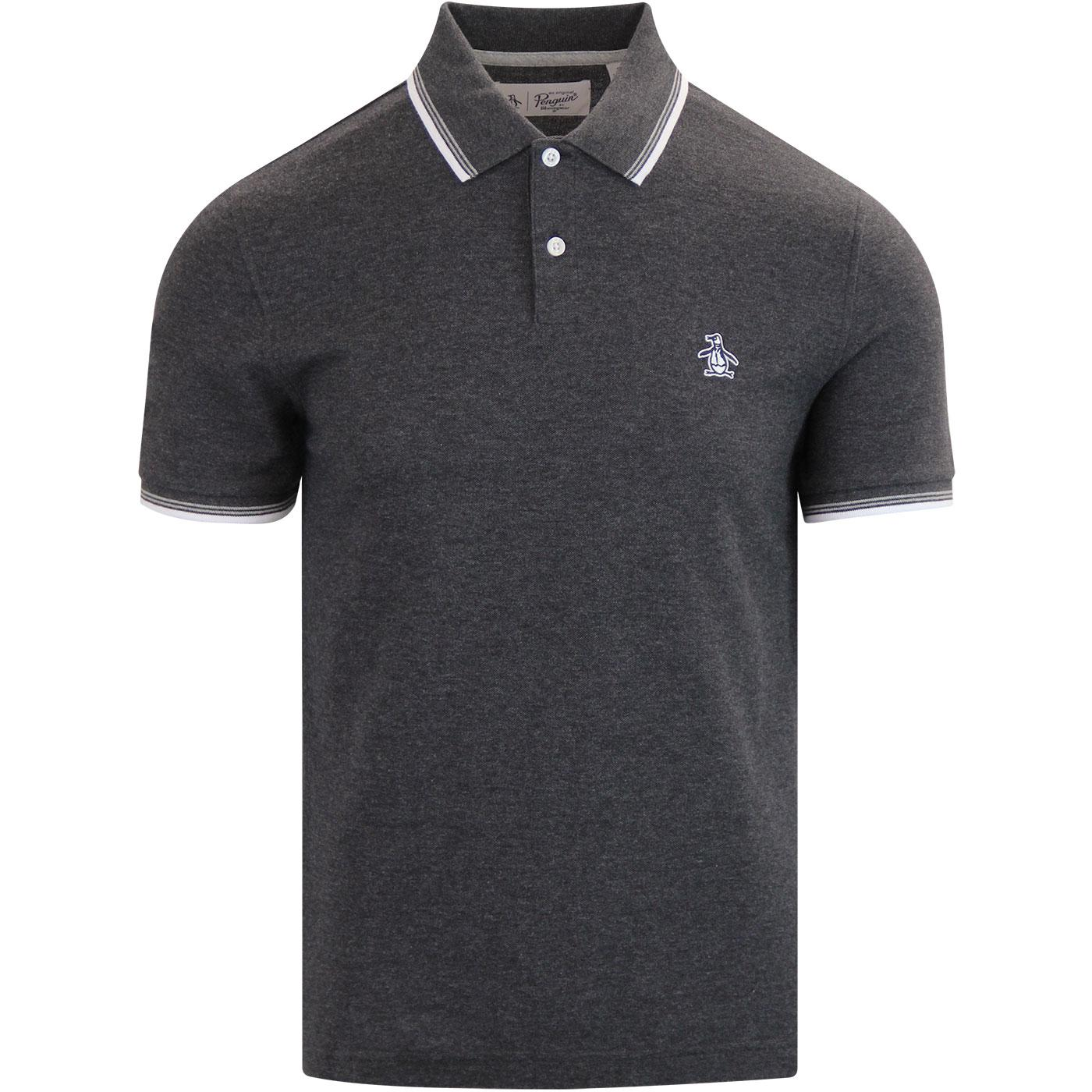ORIGINAL PENGUIN Sticker Pete Polo Dark Charcoal