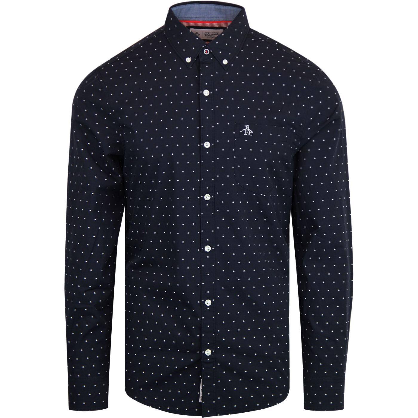 ORIGINAL PENGUIN Star Dobby L/S Retro Print Shirt