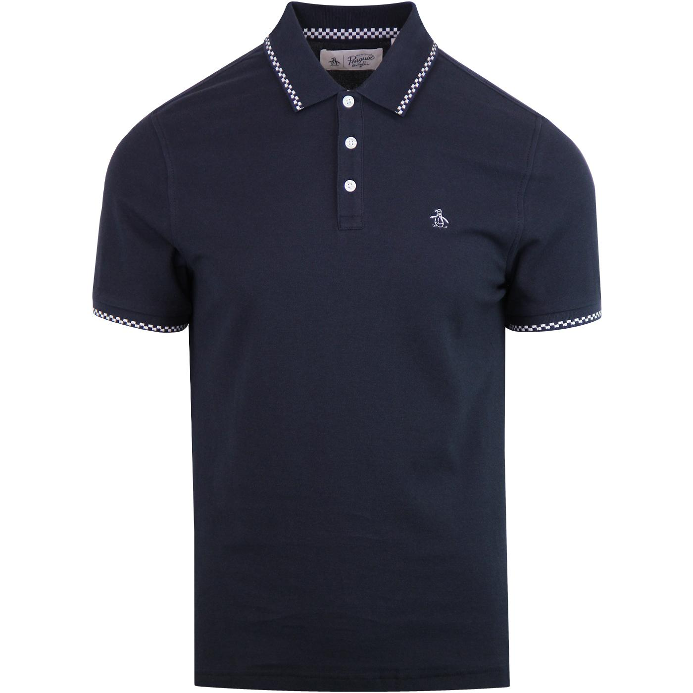 ORIGINAL PENGUIN Mod Check Tipped Pique Polo DS