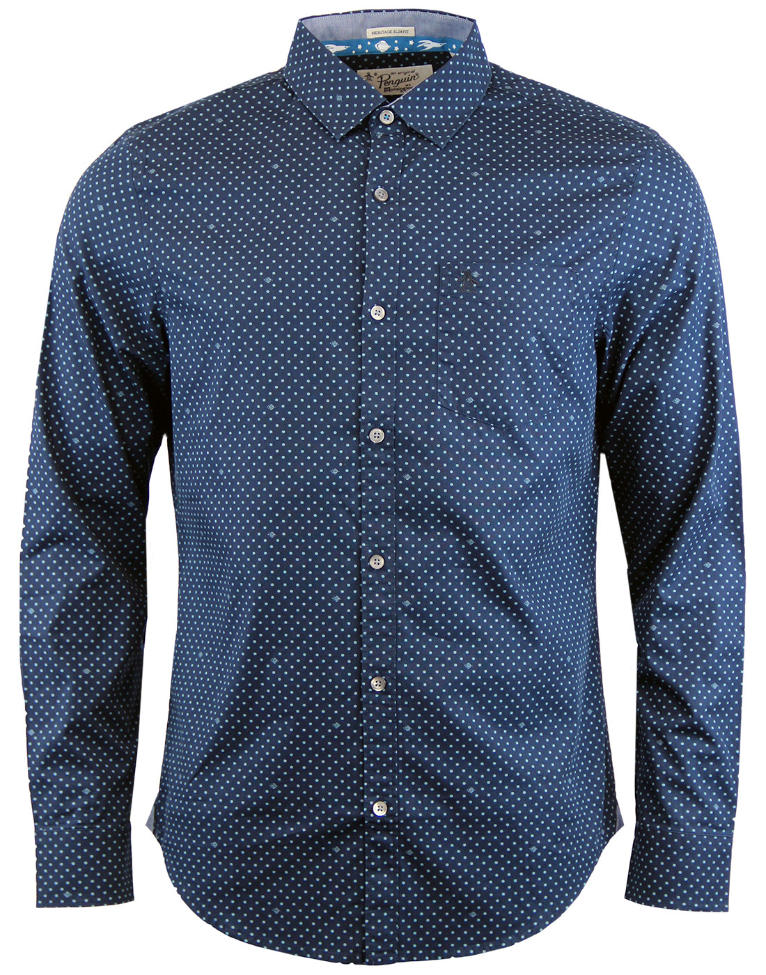 ORIGINAL PENGUIN Space Spot Mod 60s Poplin Shirt