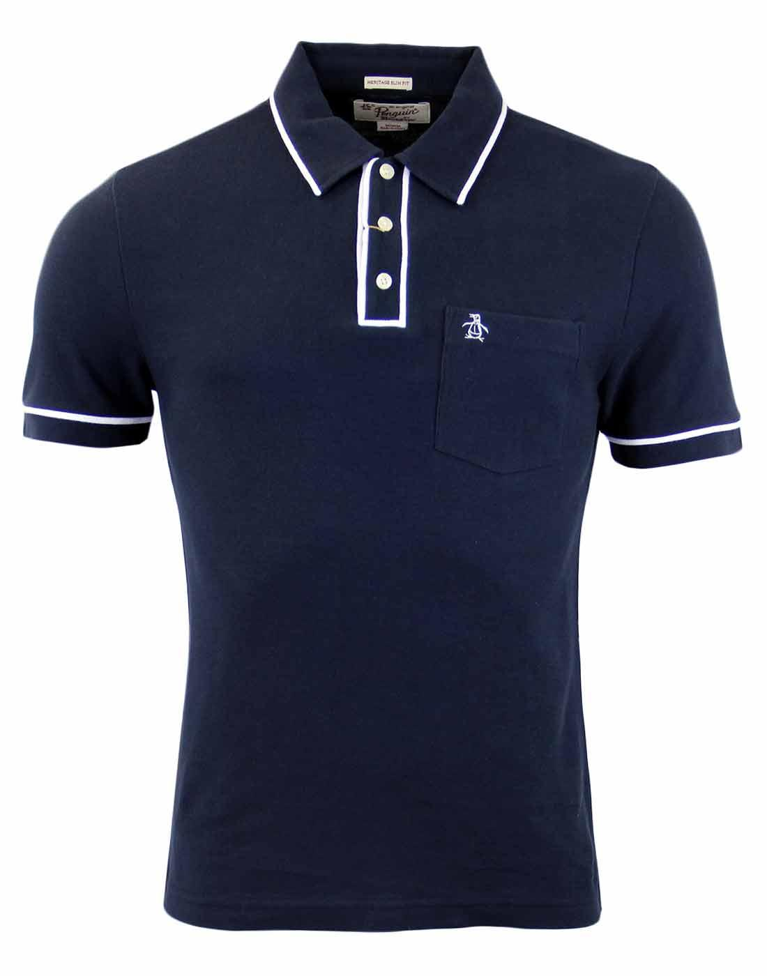 Earl ORIGINAL PENGUIN Retro Mod Tipped Polo Top DS