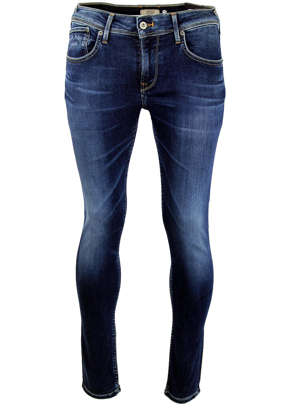c29b74b48926d PEPE JEANS Finsbury Retro Indie Drainpipe Jeans Distressed Indigo