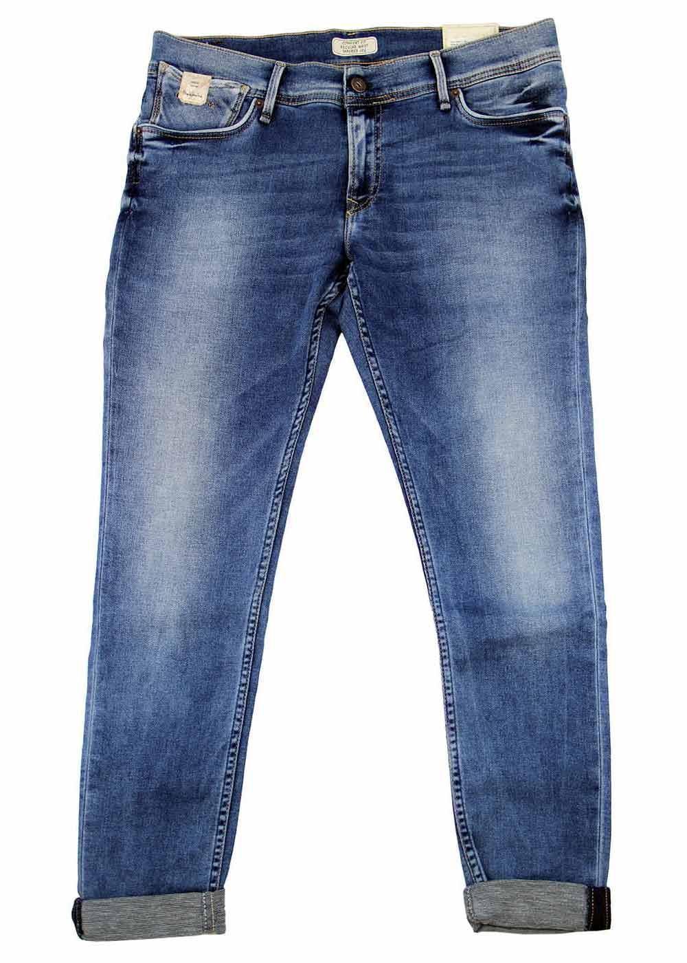 Joey PEPE Retro 1970s Turn Up Boyfriend Fit Jeans