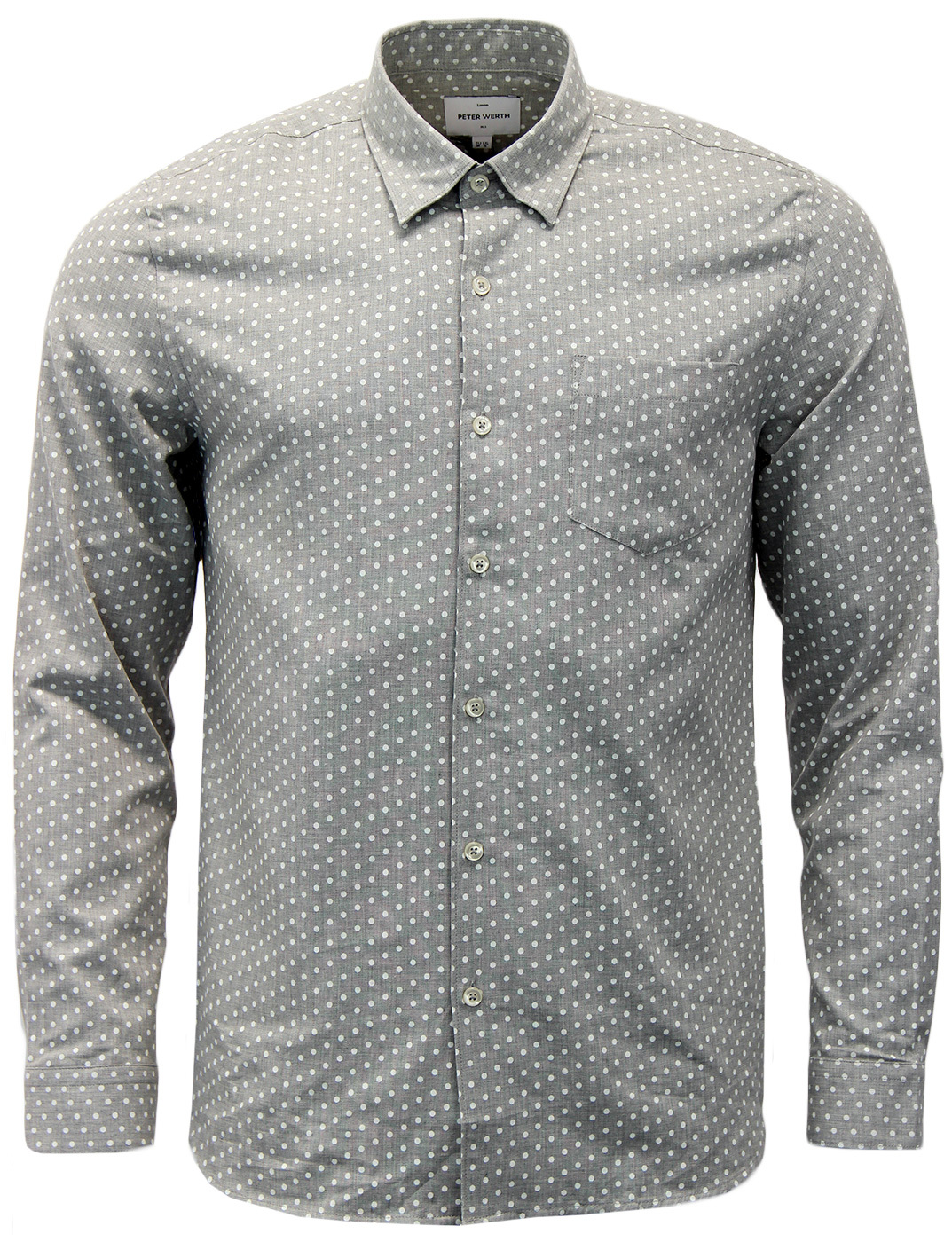Venture PETER WERTH Retro 60s Mod Polka Dot Shirt