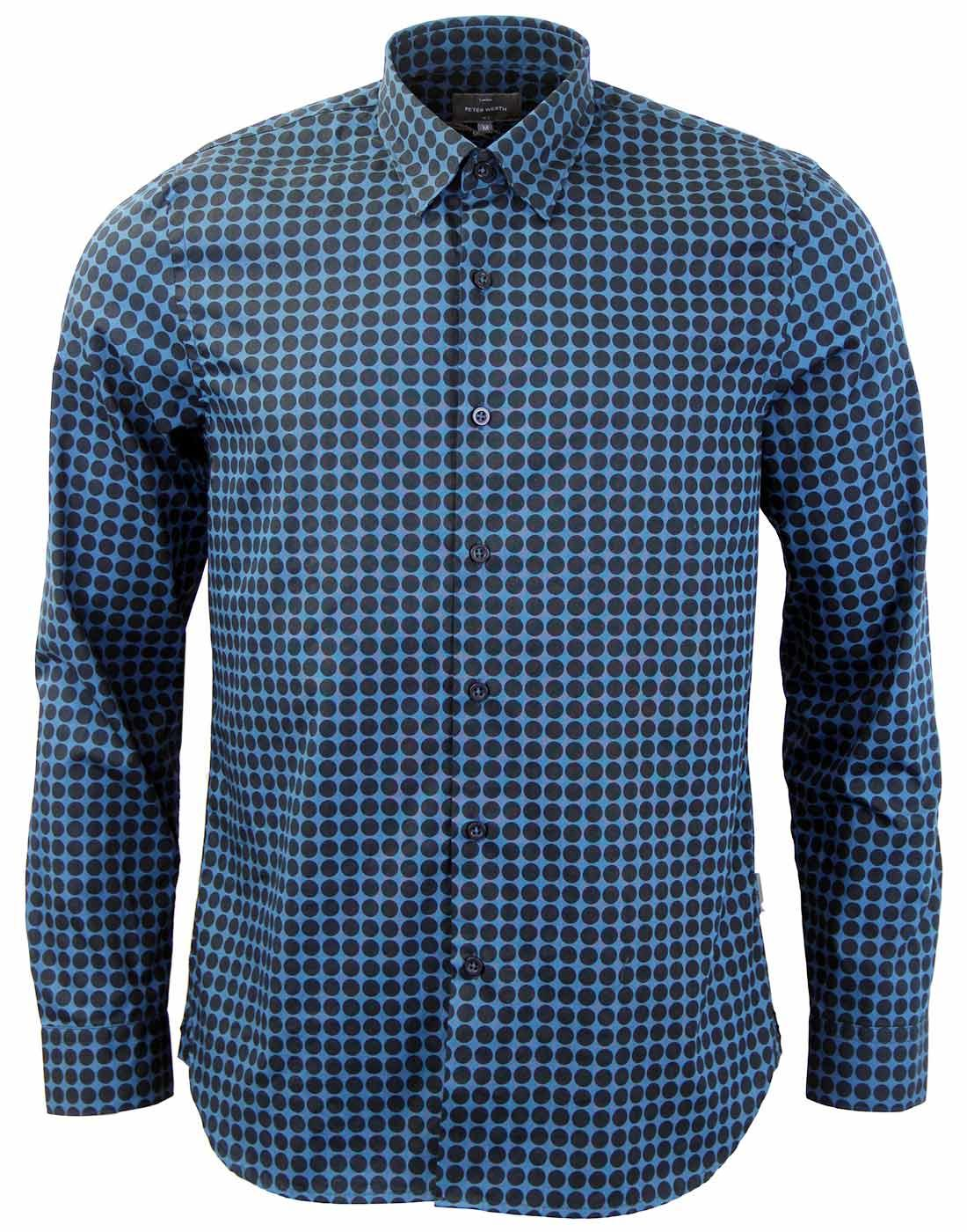 Daily PETER WERTH  Retro Mod Polka Dot Shirt