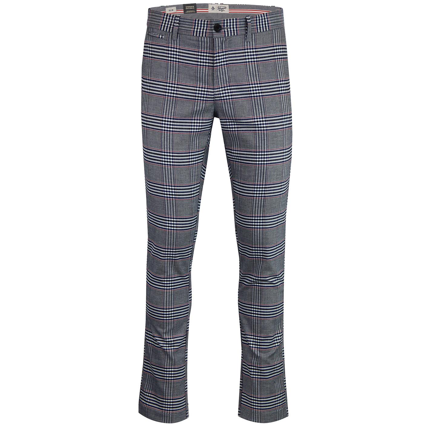 ORIGINAL PENGUIN Retro P55 Stretch Check Chinos