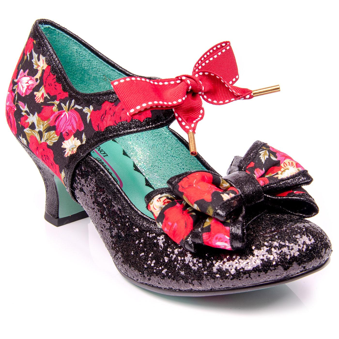 Apple Spice POETIC LICENCE Floral Glitter Heels B