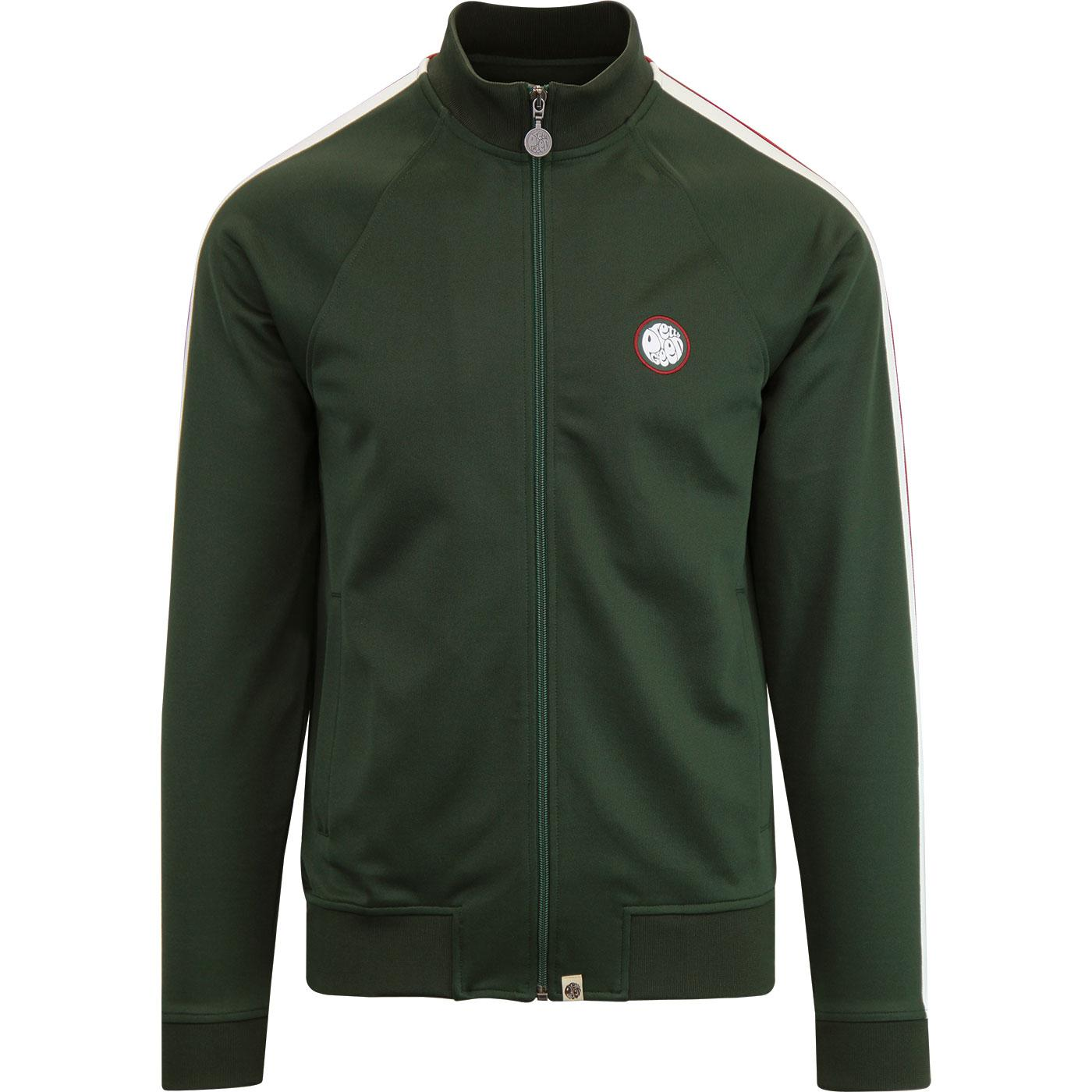 PRETTY GREEN Contrast Sleeve Panel Track Top GREEN
