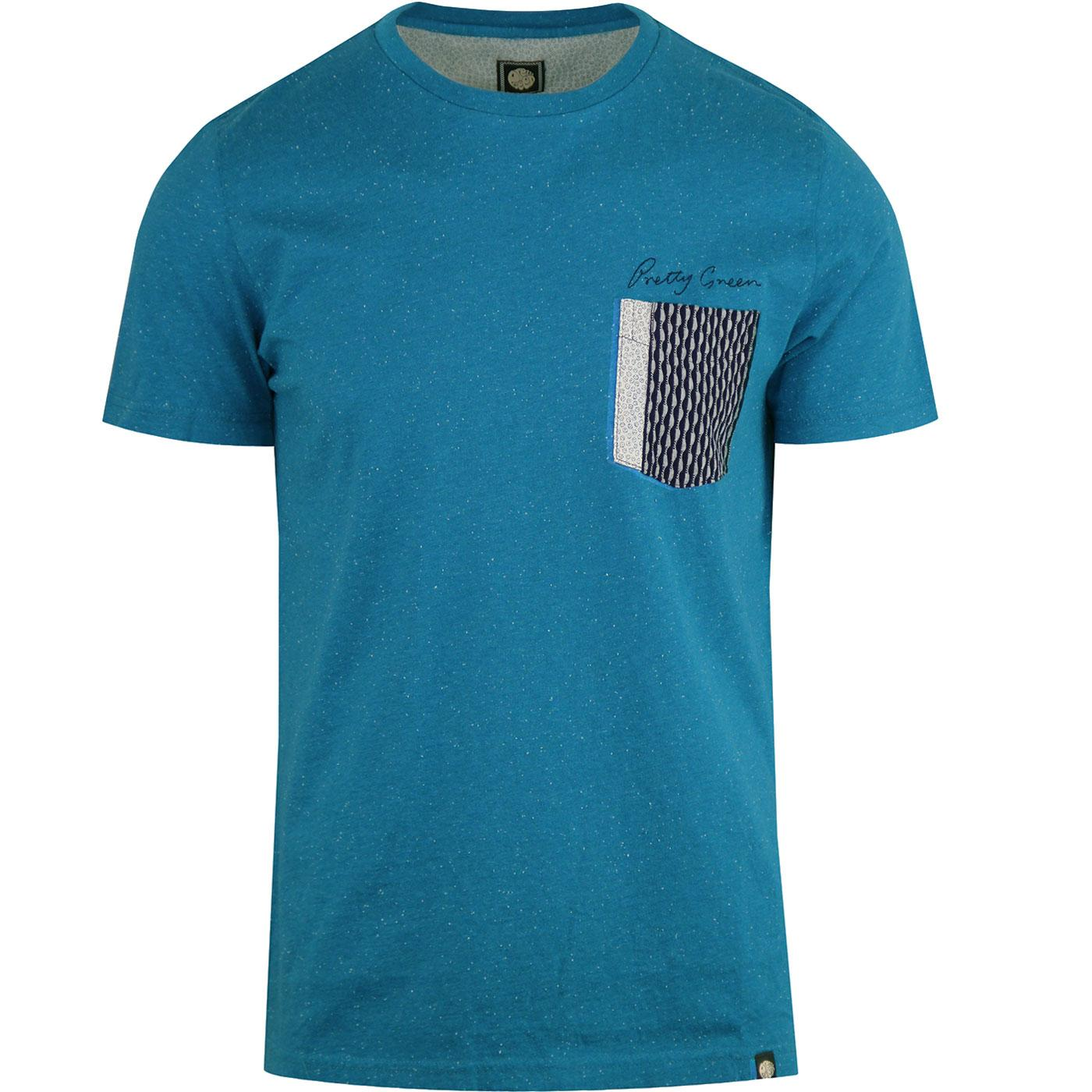 Edgedale PRETTY GREEN Retro Fleck Yarn Pocket Tee
