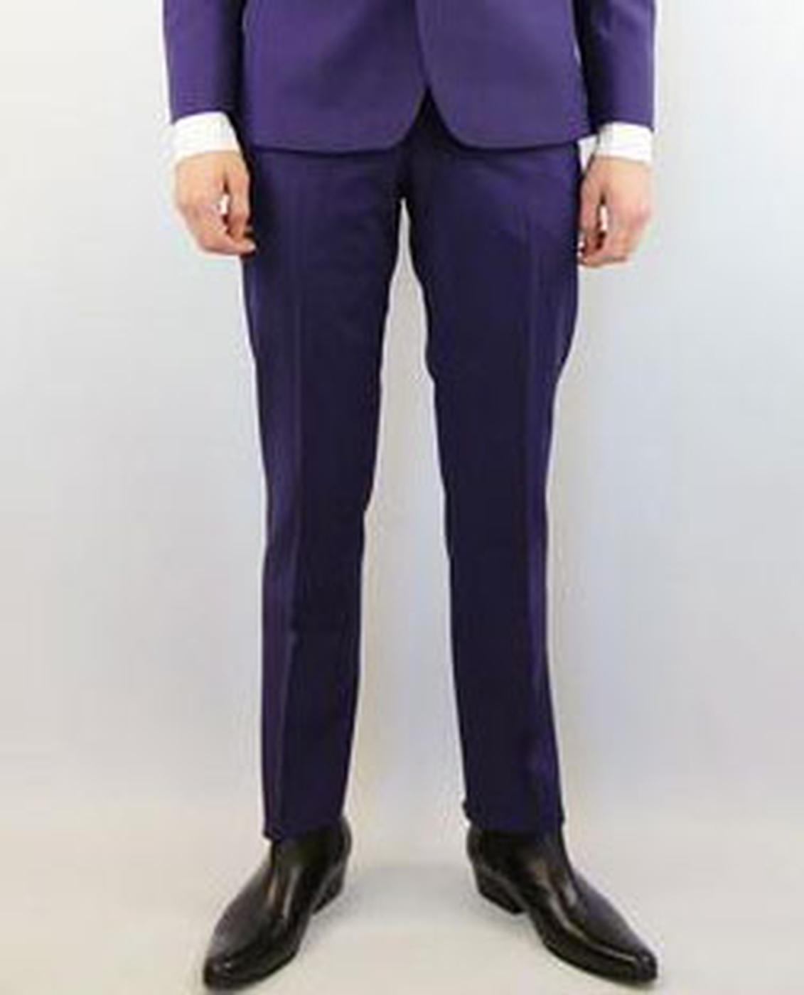Tailored by Madcap Mod Mohair Suit Trousers (Plum)