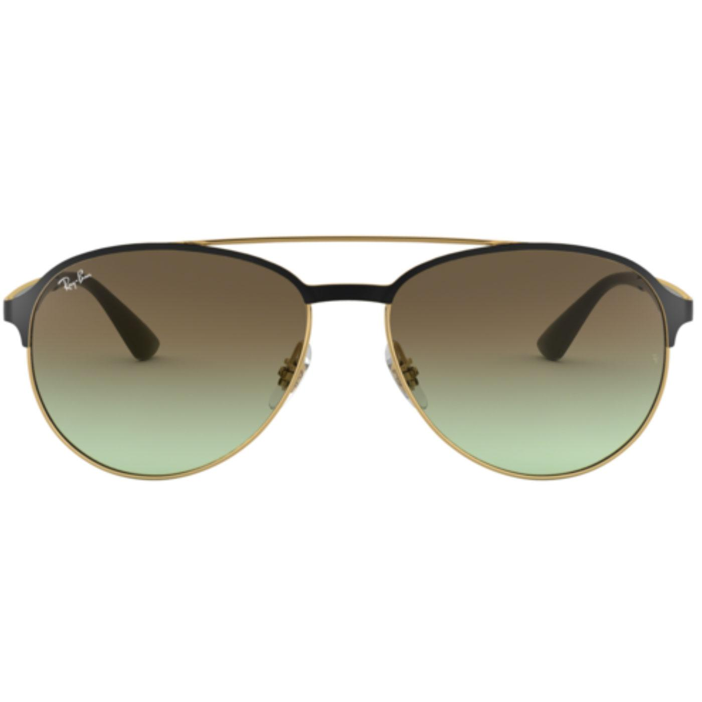 RAY-BAN Retro 70s Brow Bar Aviator Sunglasses Gold