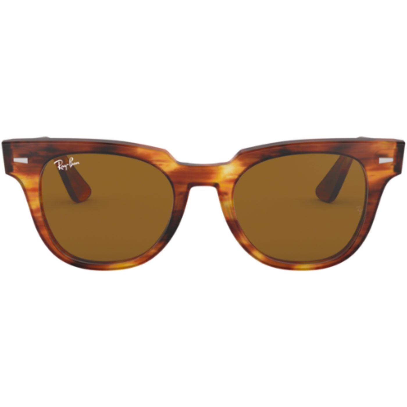 e7a5ae995d5 RAY-BAN  Meteor  Retro Wayfarer Sunglasses in Havana Brown